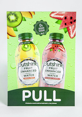Pull fruit water poster