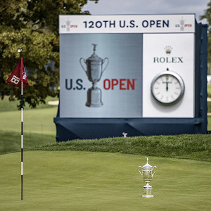Signage for US Open