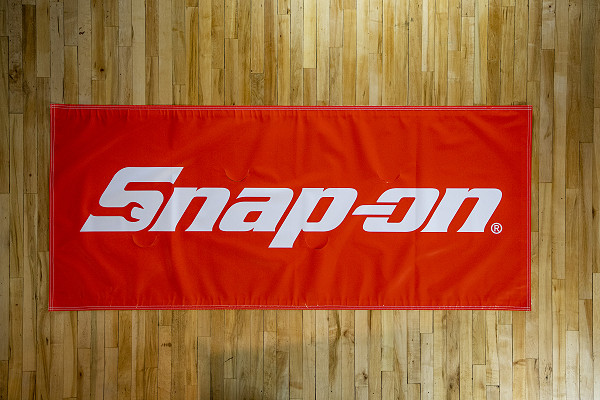 Snap-on screen printed banner