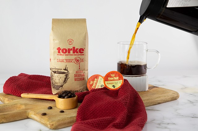 Torke coffee being poured